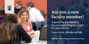 2020 Teaching Development Program for New Faculty – Preliminary Application