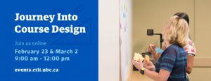 Journey into Course Design – February & March 2021