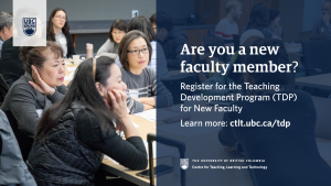2021 Teaching Development Program for New Faculty – Preliminary Application